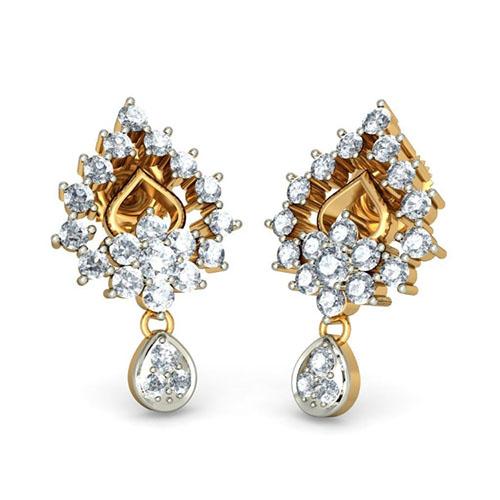 Элегантные серьги Kiev Jewelry Shravanthi с бриллиантами 001327-1048064, фото