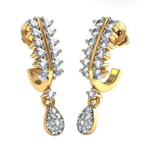 Серьги с бриллиантами Kiev Jewelry Eshnika 001338-1048099, фото