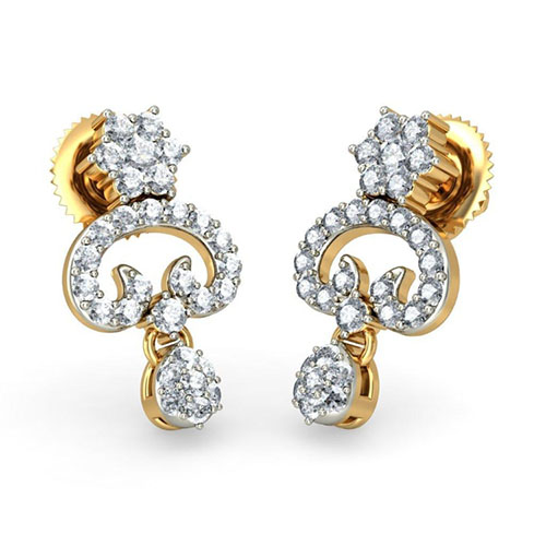 Серьги Kiev Jewelry Vena с бриллиантами 001342-1048114, фото