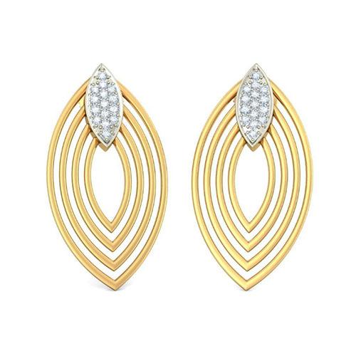 Элегантные серьги Kiev Jewelry Ovalle с бриллиантами 001400-1048271, фото