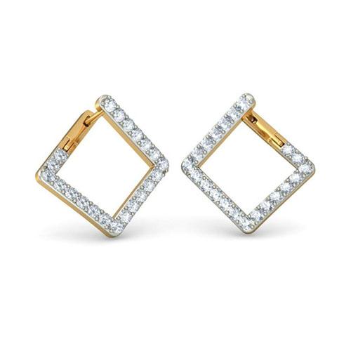 Изящные серьги Kiev Jewelry Tessera с бриллиантами 001420-1048343, фото