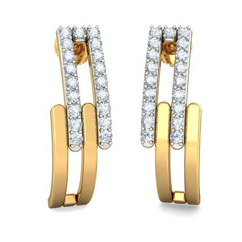 Серьги Kiev Jewelry Cantili с бриллиантами 001424-1048356, фото