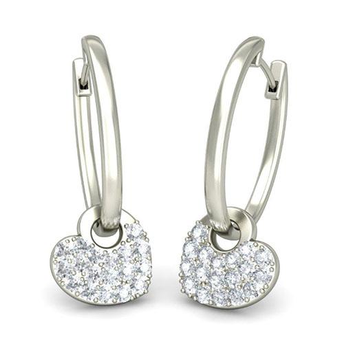 Серьги из белого золота Kiev Jewelry Carida с бриллиантами 001528-1048643, фото