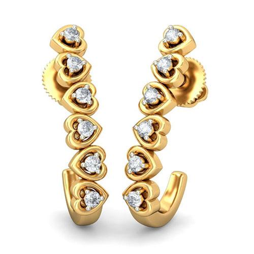 Золотые серьги Kiev Jewelry Erasmus с бриллиантами 001571-1048778, фото