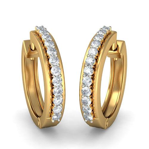 Золотые серьги Kiev Jewelry Inelia с бриллиантами 001617-1048877, фото