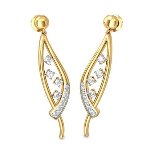 Изящные серьги Kiev Jewelry Ilar с бриллиантами 001654-1048982, фото