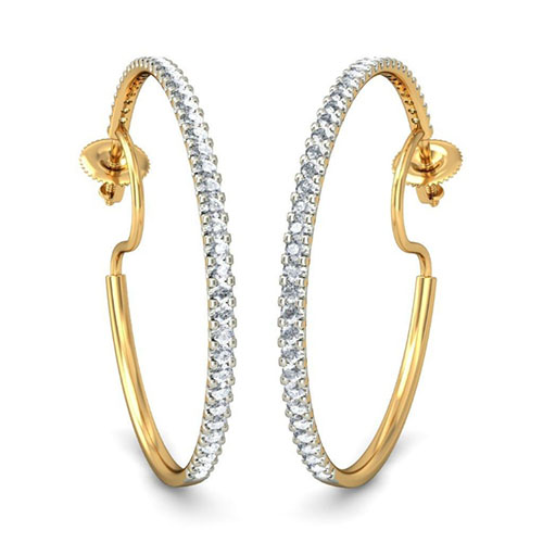Золотые серьги Kiev Jewelry Sirah с бриллиантами 001687-1049084, фото