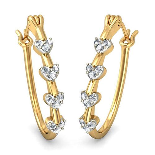 Серьги Kiev Jewelry Ihaan с бриллиантами 001707-1049143, фото