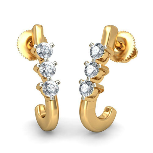 Золотые серьги Kiev Jewelry Eleen с бриллиантами 001715-1049166, фото