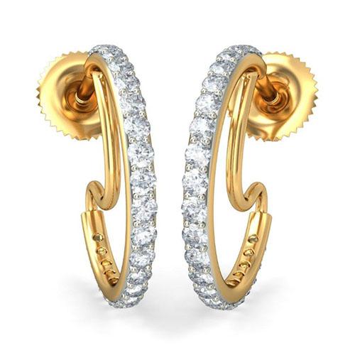 Серьги Kiev Jewelry Raun с бриллиантами 001733-1049223, фото