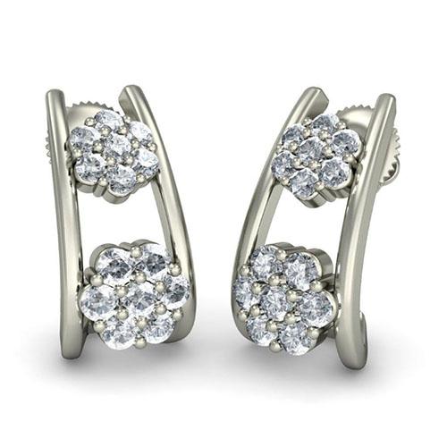 Серьги из белого золота Kiev Jewelry Adora с бриллиантами 001797-1049341, фото