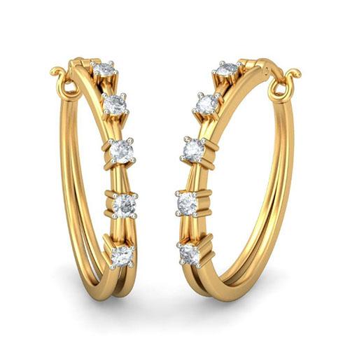 Серьги Kiev Jewelry Sifrar с бриллиатами 001811-1049390, фото