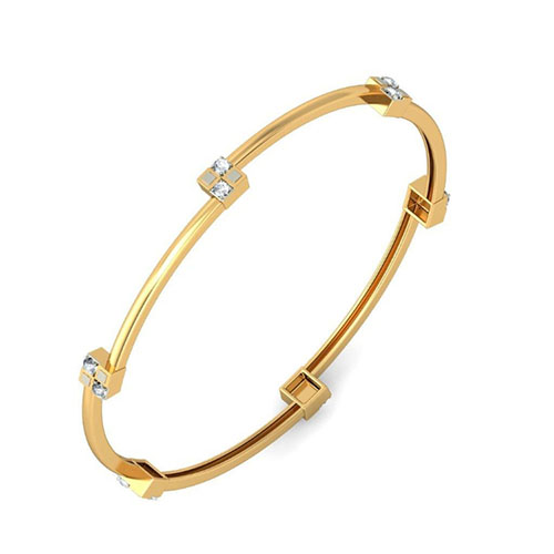 Золотой браслет Kiev Jewelry Rukma с фианитами 001875-1049556-f, фото