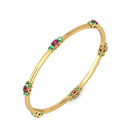Золотой браслет Kiev Jewelry Kirna с фианитами 001885-212100-f, фото