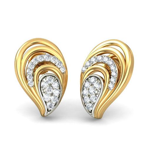 Серьги с бриллиатнами Kiev Jewelry Fusia 001982-1049948, фото