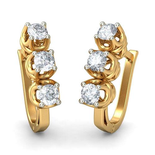 Серьги Kiev Jewelry Glamour Fiesta с бриллиантами 002005-1050021, фото