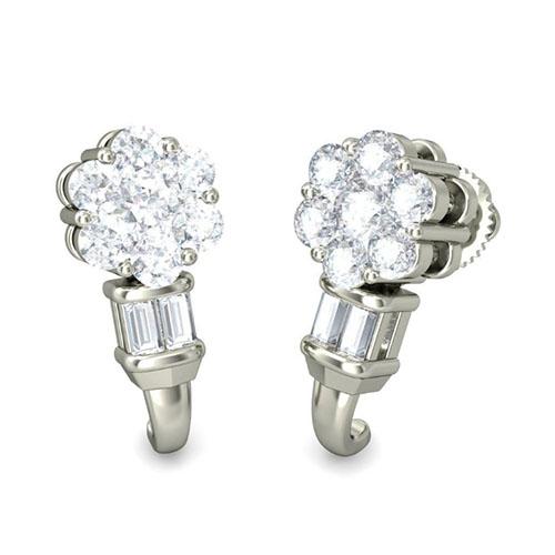 Серьги из белого золота Kiev Jewelry Aru с бриллиантами 002030-291586, фото