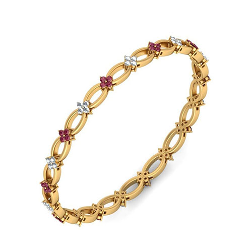 Золотой браслет Kiev Jewelry Nivritti с фианитами 002100-1050222-f, фото