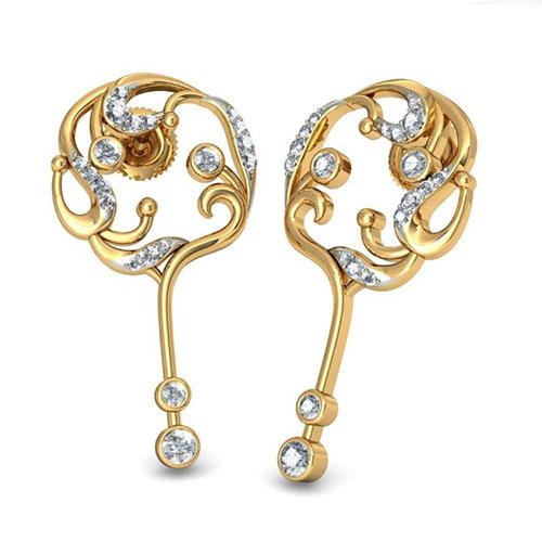 Серьги Kiev Jewelry Amarantha с бриллиантами 002196-1050471, фото