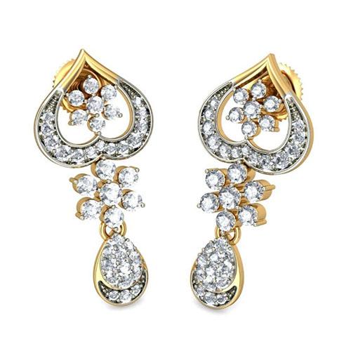 Серьги Kiev Jewelry Damayanti с бриллиантами 002198-1050479, фото