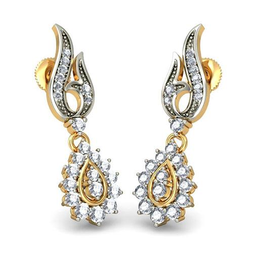 Серьги Kiev Jewelry Trishna с бриллиантами 002206-1050514, фото