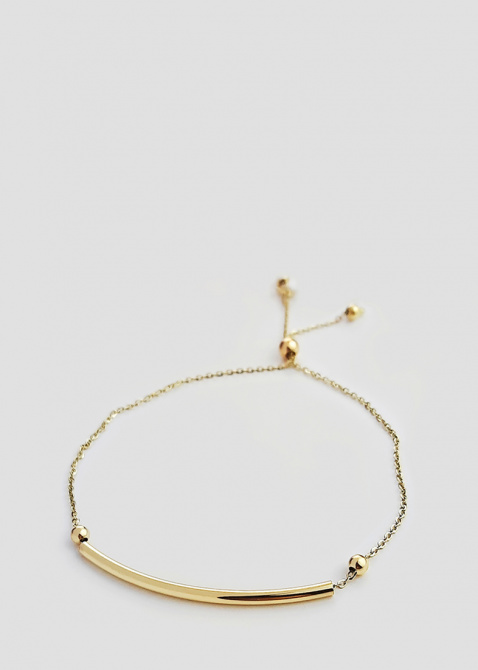 Золотой браслет Itisi с гладкой вставкой, фото