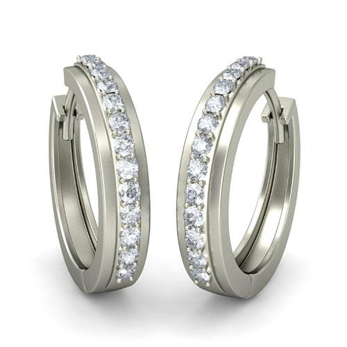 Серьги из белого золота Kiev Jewelry Kendra с бриллиантами 002295-1050690, фото