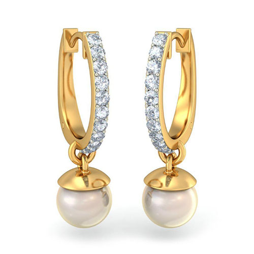 Элегантные серьги Kiev Jewelry Waverly с бриллиантами и жемчугом 002430-1050992, фото