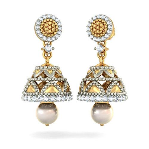 Серьги Kiev Jewelry Naisha Detachable с бриллиантами и жемчугом 002632-1051524, фото