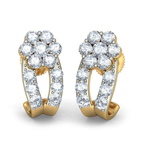 Серьги с брилллиантами Kiev Jewelry Hiral 002862-1051771, фото
