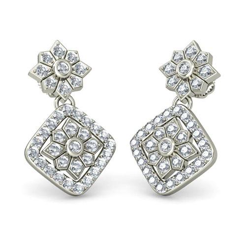 Серьги из белого золота Kiev Jewelry Dali с бриллиантами 002865-1051783, фото