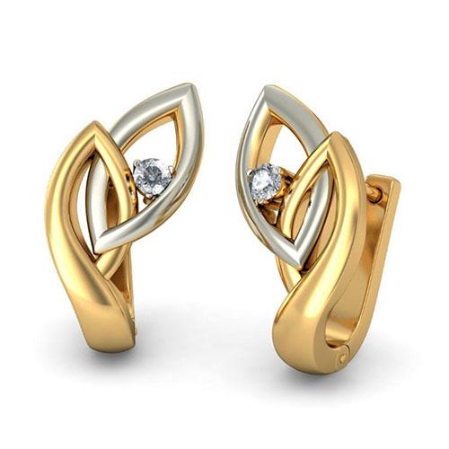 Серьги Kiev Jewelry Clair с бриллиантом 002866-1051785, фото