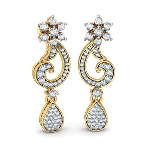 Золотые серьги Kiev Jewelry Nrityangana с бриллиантами 003031-1052052, фото