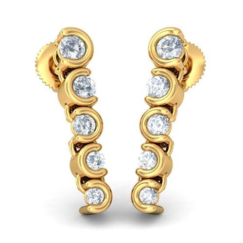 Серьги из желтого золота Kiev Jewelry Foreverand Beyond с бриллиантами 003054-1052084, фото