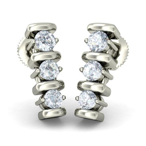 Серьги из белого золота Kiev Jewelry Tranquil Journey с бриллиантами 003083-1052202, фото