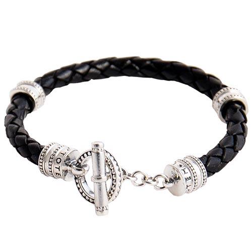Плетеный кожаный браслет TOTEM Adventure Jewelry Toggle Round, фото