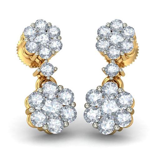 Серьги Kiev Jewelry Chanchal Pushp с бриллиантами 003221-1138165, фото