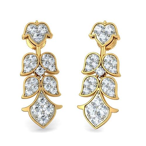 Серьги Kiev Jewelry Prem Priya с бриллиантаим 003224-1138212, фото