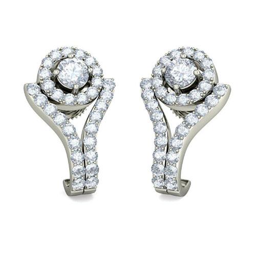 Серьги из белого золота Kiev Jewelry Midori с бриллиантами 003323-1211201, фото