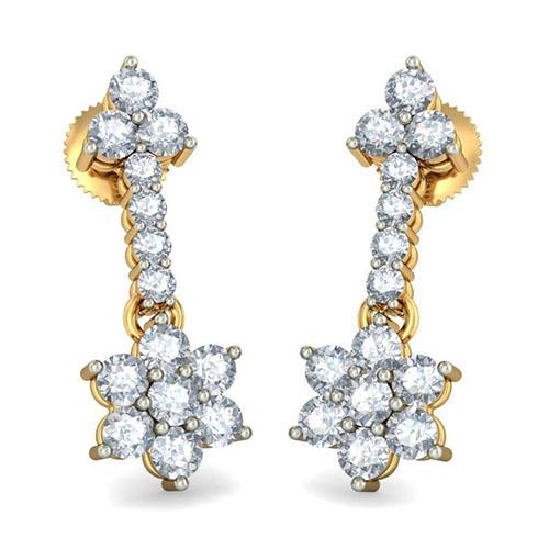 Золотые серьги Kiev Jewelry Kiran Kanupriya с бриллиантами 003631-1403819, фото