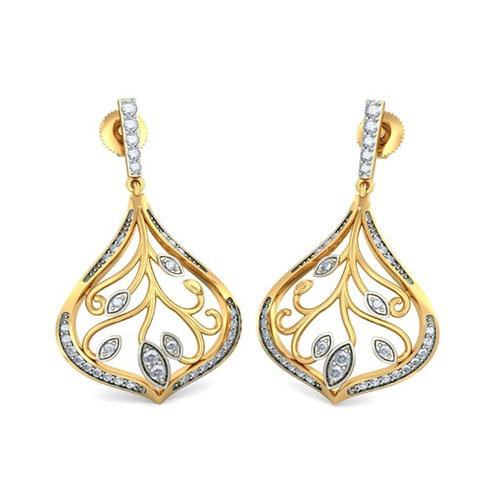 Серьги Kiev Jewelry Hope Leaves с бриллиантами 004851-2215747, фото