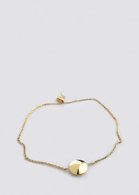 Браслет из желтого золота Itisi с круглой вставкой, фото