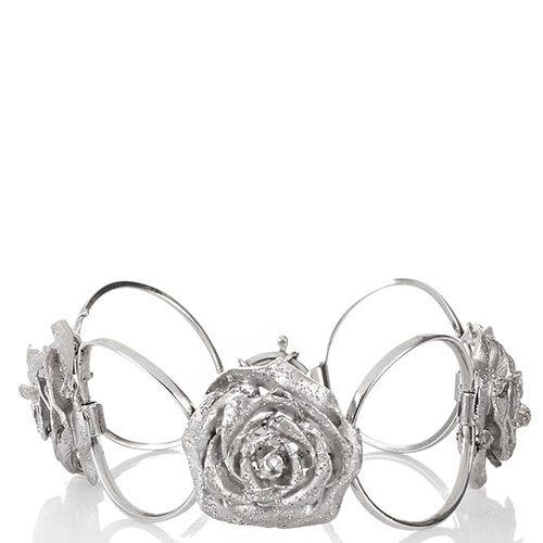 Браслет Magie Preziose из серебряных колец и цветков розы, фото
