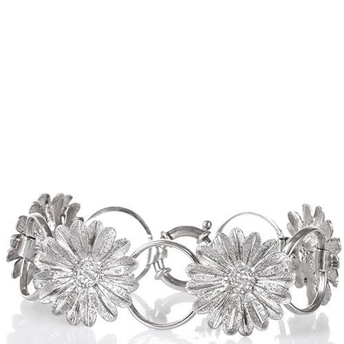 Серебряный браслет Magie Preziose в виде колец и цветков ромашки, фото