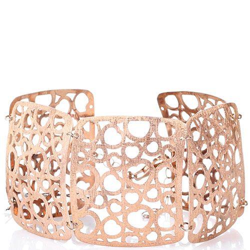 Серебряный браслет Bassani в розовой позолоте, фото