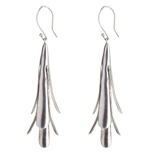 Длинные серебряные серьги Anticoa, фото