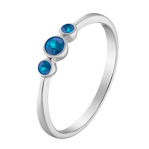 Кольцо из белого золота Sova Акварель с синими сапфирами, фото