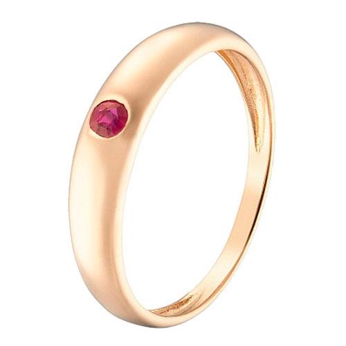 Кольцо Sova Акварель из красного золота с рубином, фото