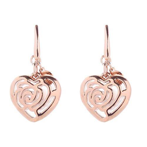 Серьги из бронзы покрытой золотом Nomination в форме сердечка, фото