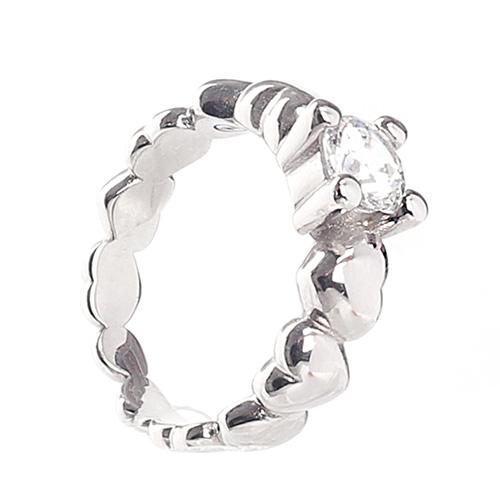 Помолвочное кольцо Nomination Rock с крупным камнем, фото